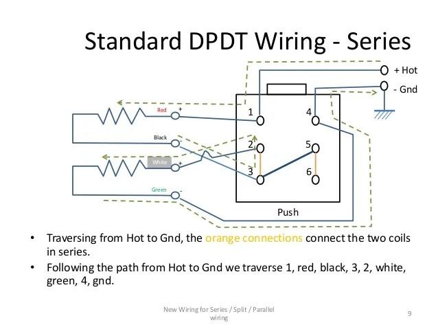 dimarzio pickup wiring diagram tank alert xt series / parallel for 4-conductor humbucker pickups