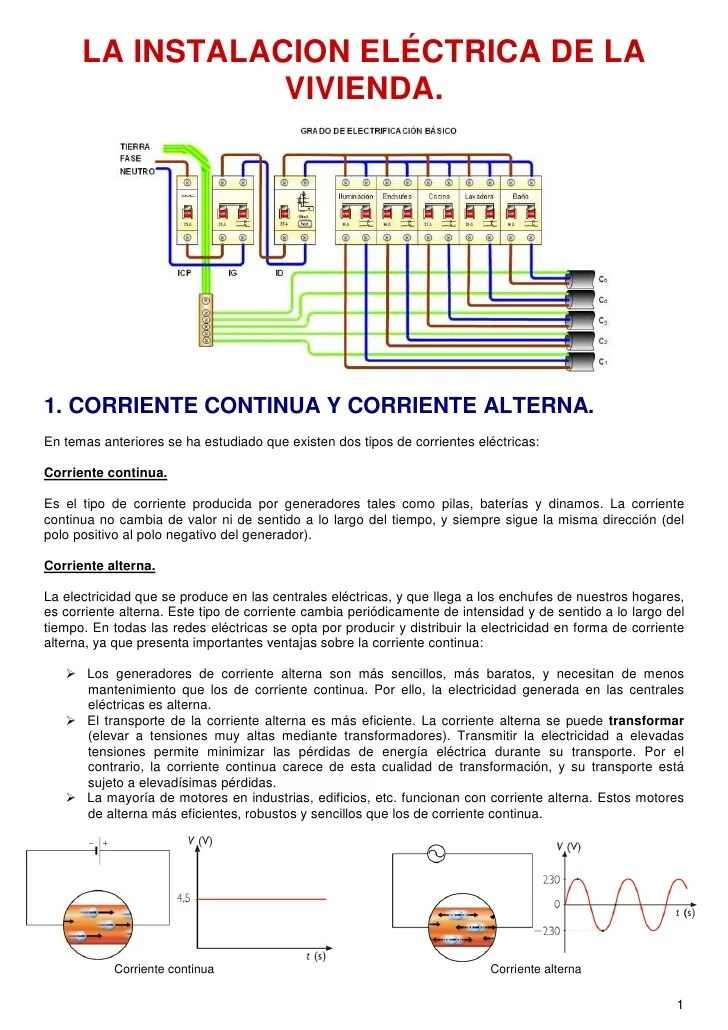 Tema 2 instalaciones elctricas en viviendas