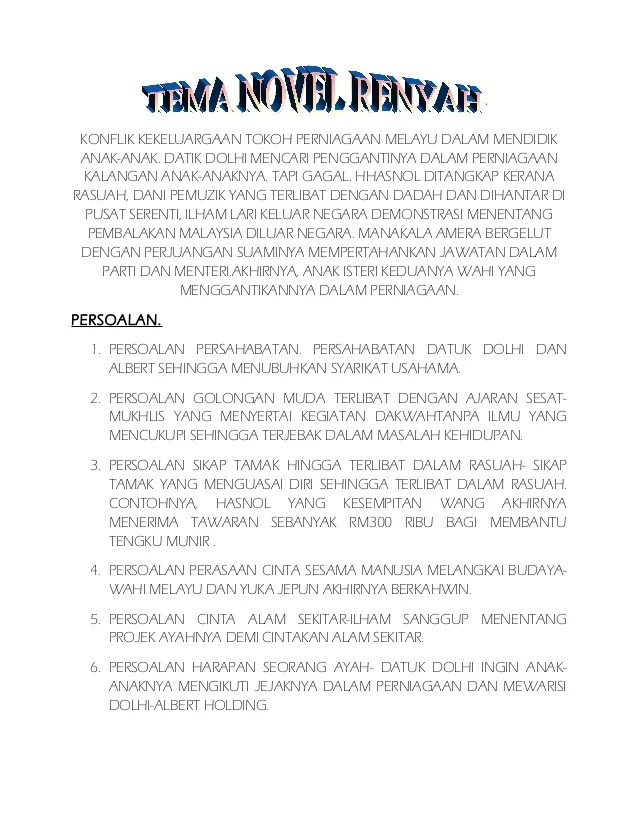 Tema Novel : novel, Novel, Renyah