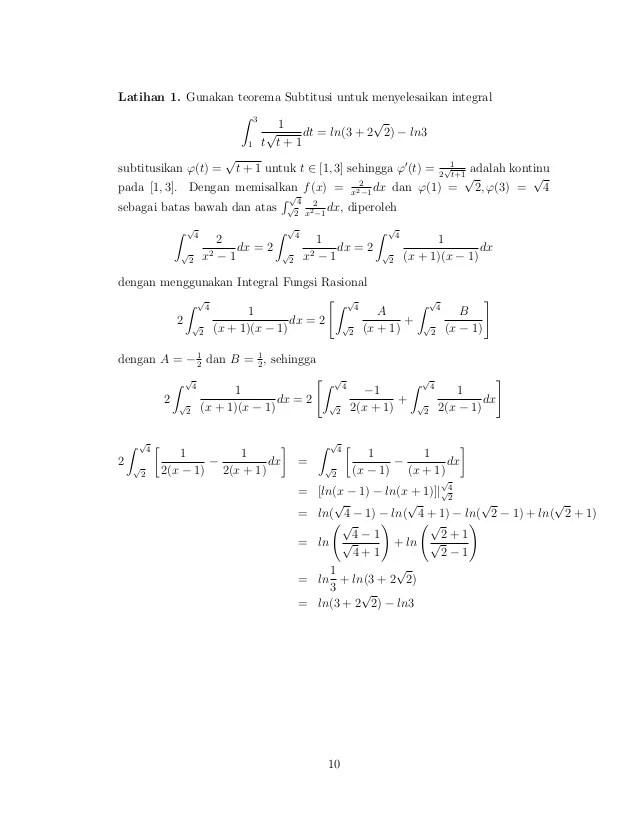 Untuk menyelesaikannya maka kita harus menyederhanakan fungsi tersebut menggunakan teorema dasar yang di atas. Contoh Soal Teorema Dasar Kalkulus 1 Contoh Soal Terbaru