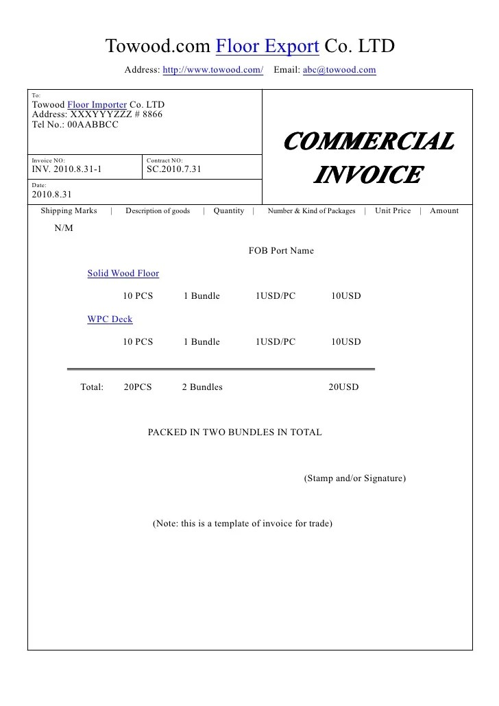commercialinvoice