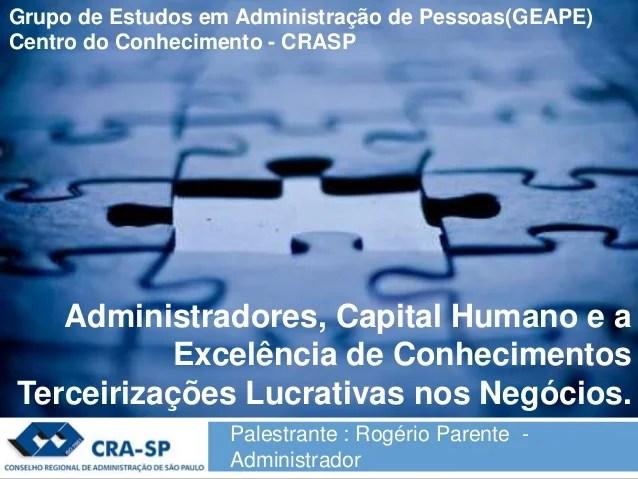 Administradores Capital Humano E A Excelência De