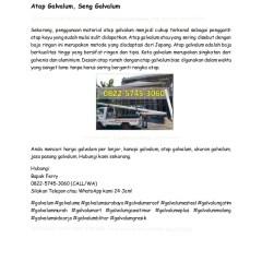 Harga Kanopi Baja Ringan Di Malang Galvalum 0822 5745 3060 Distributor Jual Ga