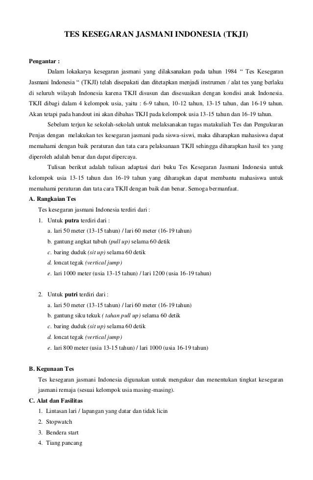 Tujuan Kebugaran Jasmani : tujuan, kebugaran, jasmani, Kesegaran, Jasmani, Indonesia