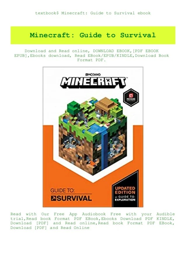 How To Zoom Out In Minecraft : minecraft, Textbook$, Minecraft, Guide, Survival, Ebook
