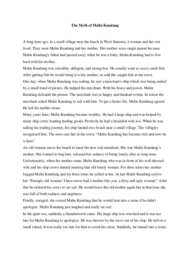Cerita Malin Kundang Dalam Bahasa Inggris : cerita, malin, kundang, dalam, bahasa, inggris, Cahmlinjo