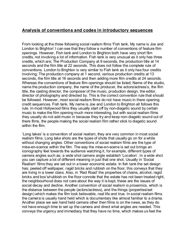 Example Textual Analysis Essay
