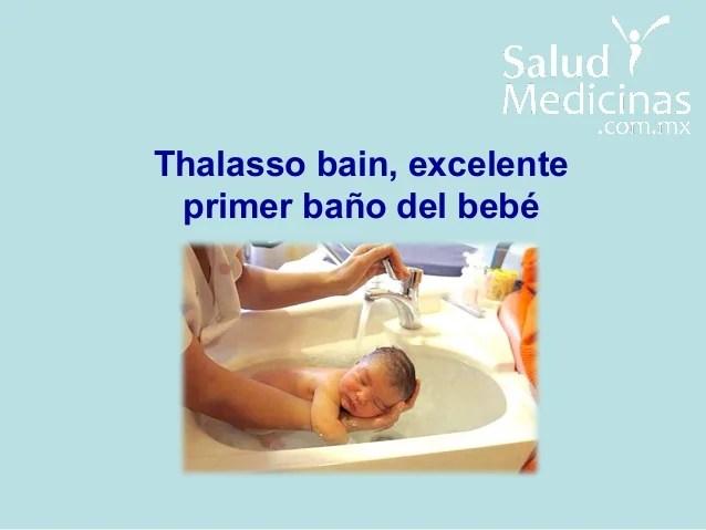 Thalasso Bain nueva tecnica para el bao del recin nacido