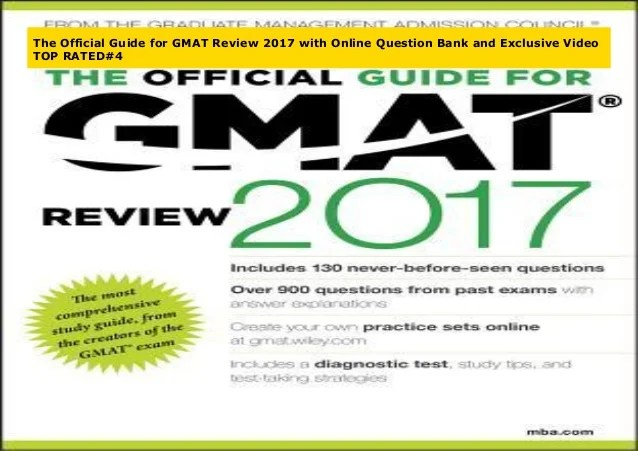 The Official Guide For Gmat Review 2017 With Online Question Bank And