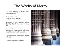 Corporal And Spiritual Works Of Mercy Worksheet Photos ...