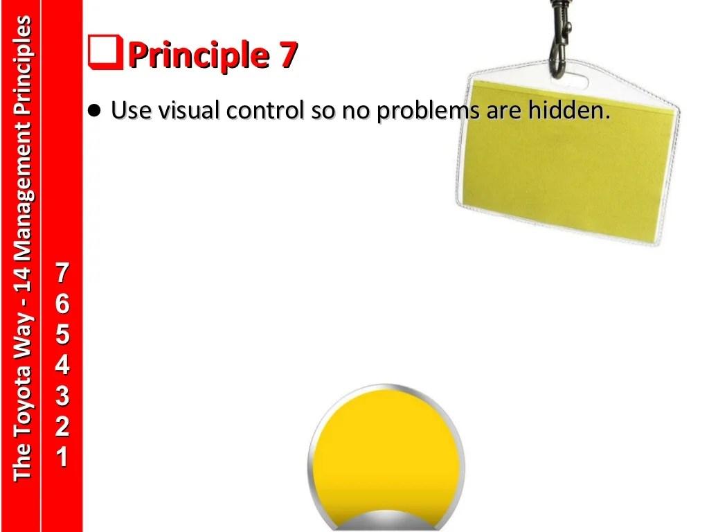 Principle 7 Use Visual Control