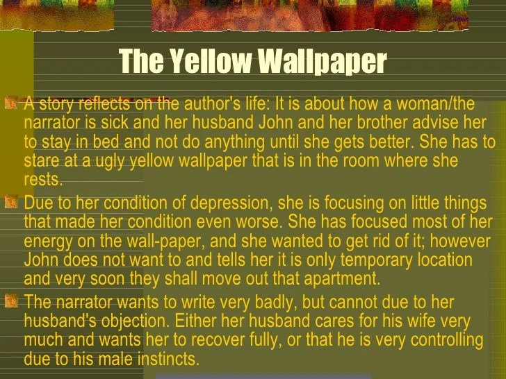 Essay On The Yellow Wallpaper Essay On The Yellow Wallpaper