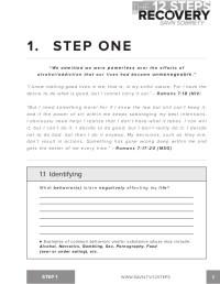 Printables. 12 Step Recovery Worksheets. Lemonlilyfestival ...