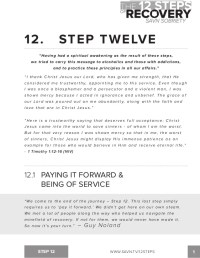 Printables. Na 12 Step Worksheets. Mywcct Thousands of ...