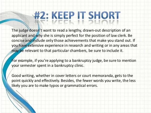 Law Clerk Career  Prospective Job Seekers  Cover Letter Tips