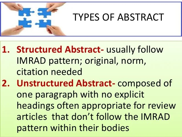 The Abstract Ppt