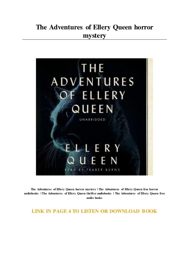 Download Mystery Queen : download, mystery, queen, Adventures, Ellery, Queen, Horror, Mystery