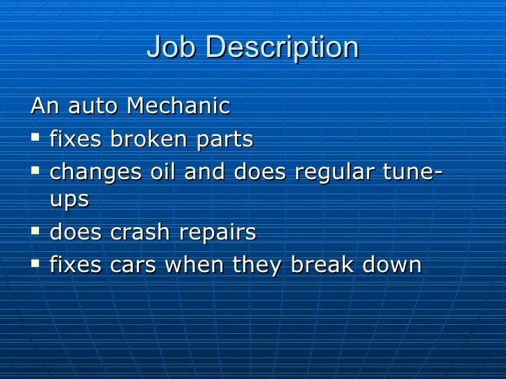 auto technician job description