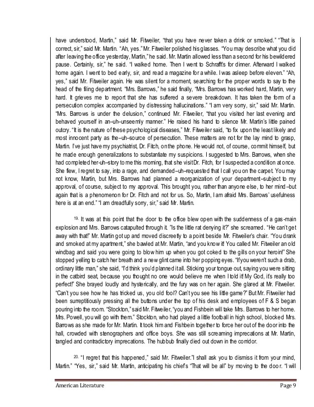 Catbird seat by james thurber essay