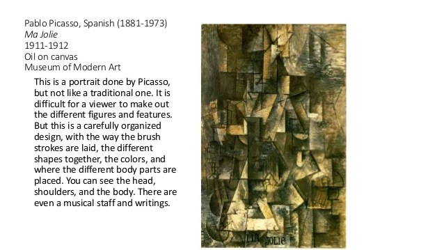 Image result for picasso painting ma jolie