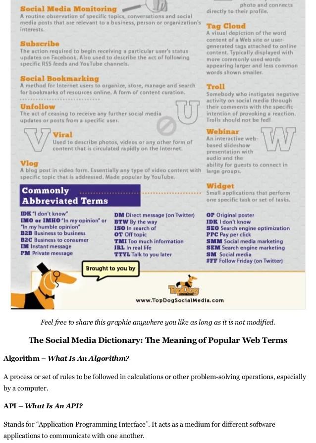 The Complete Social Media Dictionary Social Media