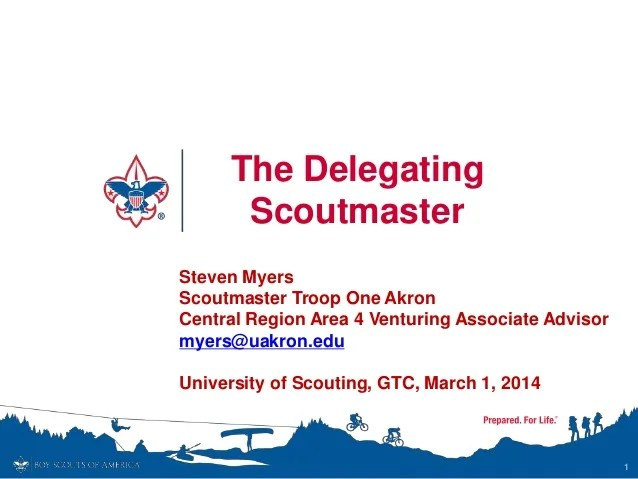 The Delegating Scoutmaster 2014 Bsa
