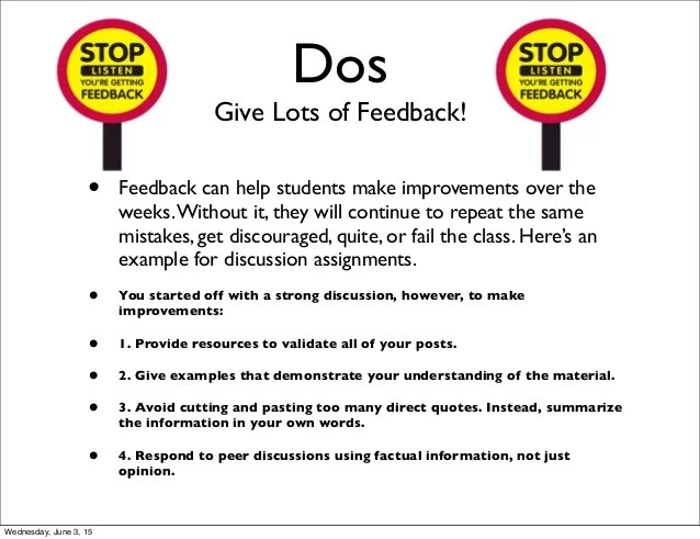The Dos And Don Ts Of Teaching Online