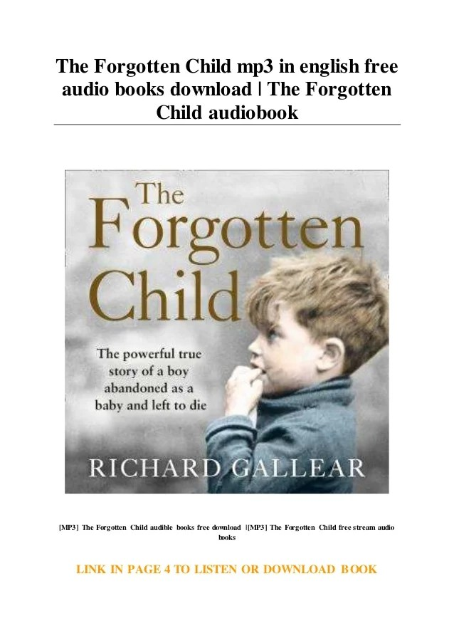 Baby Baby Mp3 Free Download : download, Forgotten, Child, English, Audio, Books, Download, Fo…