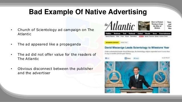 Native Advertising: The Good. The Bad And Examples