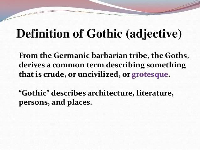 Gothic Definition Quizlet