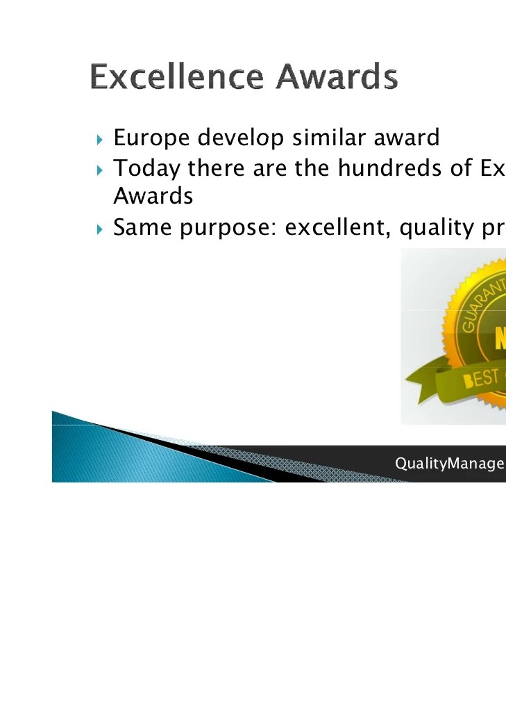 Total Quality Management Deming Award