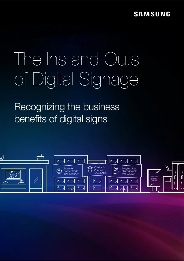 ins and outs of digital signage