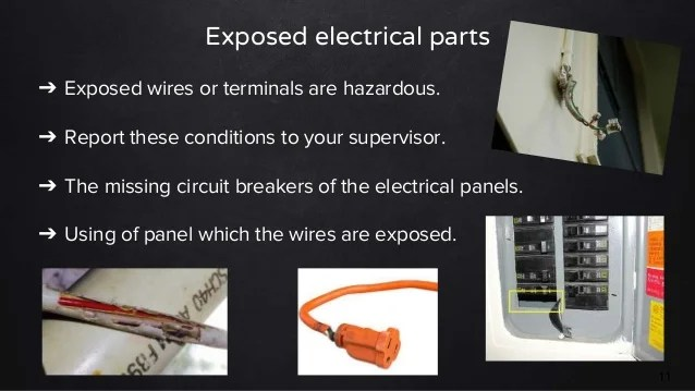electrical panel hazards 2000 vw beetle fuse box diagram the issues of at site and steps to prevent 10 11 exposed