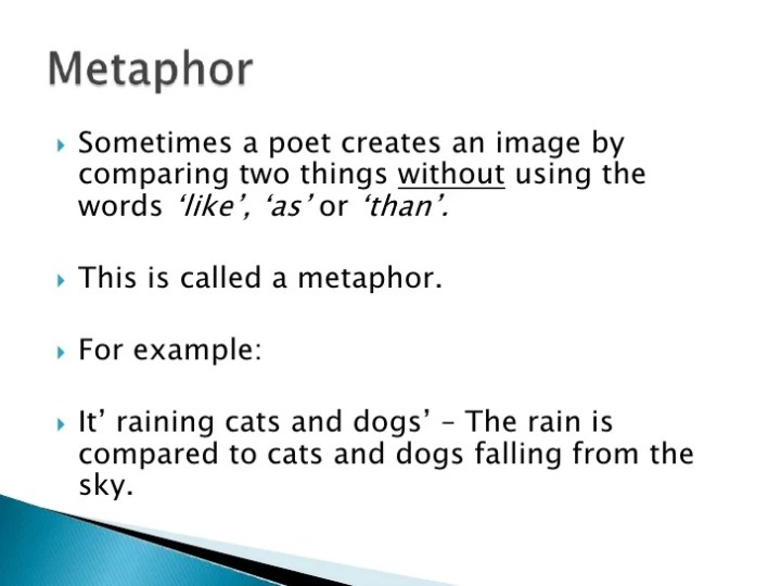 Metaphor Examples Poems Image Collections Resume Cover Letter Examples