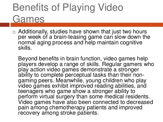 The Many Benefits of Playing Video Games