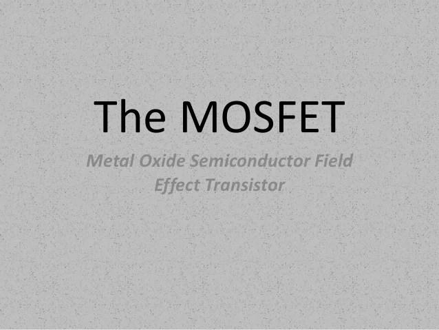field effect transistor circuit symbol