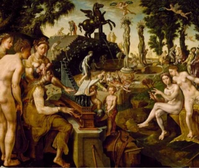 Concert Of Apollo And The Muses On Mount Helicon 1565 Maerten Van Heemskerck