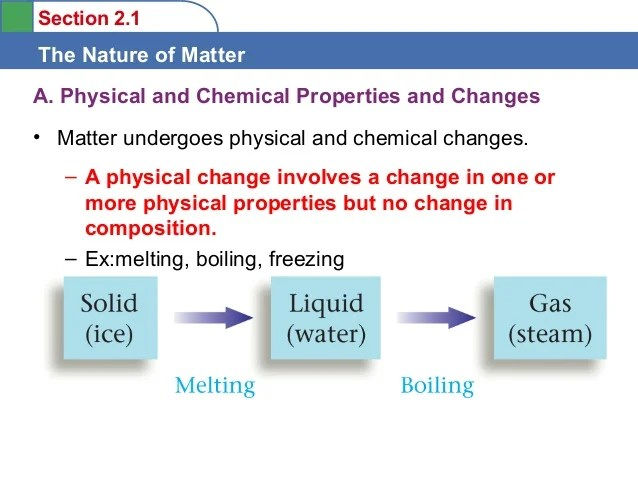 Are And Are Physical And They Substance What Chemical Used How Changes