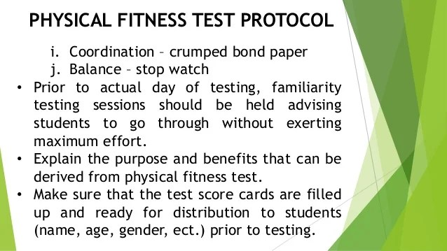 The Physical Fitness Test