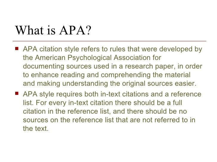 Apa Citation Within A Research Paper Research Paper Service