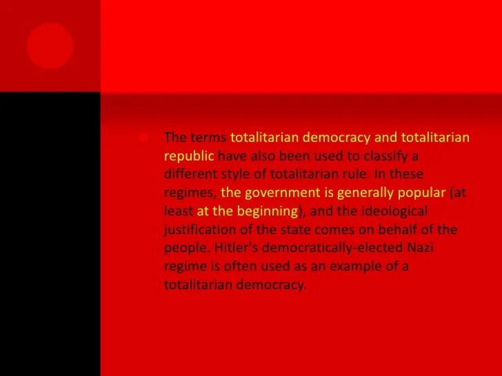 ? Totalitarian regime examples. Totalitarianism: Definition. Characteristics & Examples. 2019-01-13