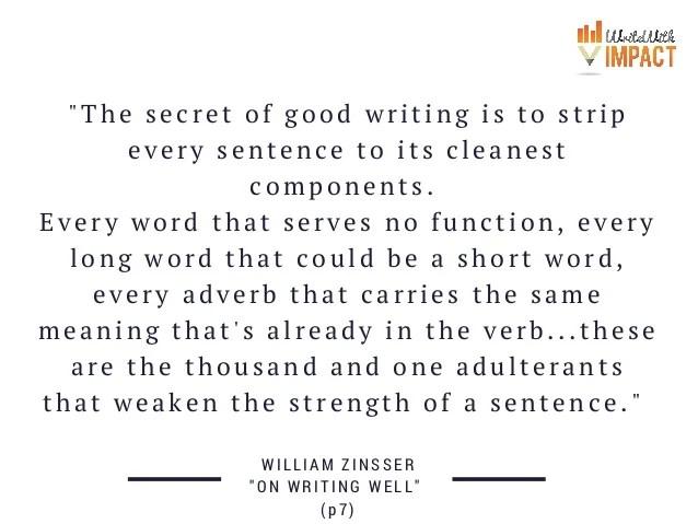 """The Secret Of Good Writing"