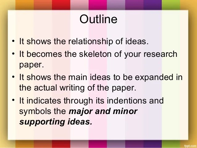 Outlines For Anthropology Research Papers Term Paper Academic