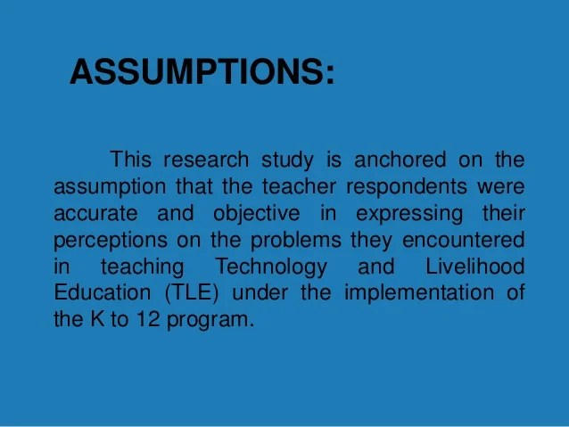 Thesis Writing Assumptions