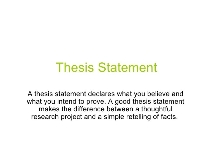 Research Essay Thesis Statement Example Thesis Statement In A