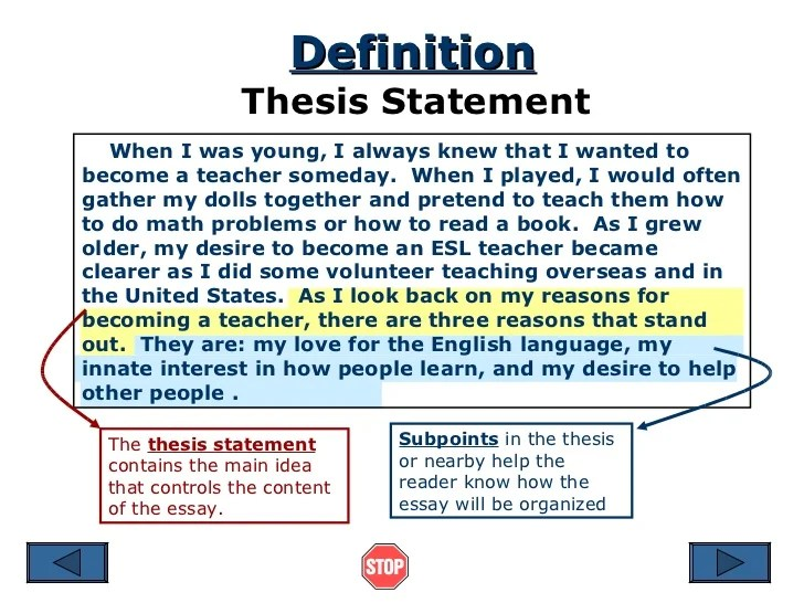 Research Essay Thesis Statement Example Thesis Paragraph Help Write
