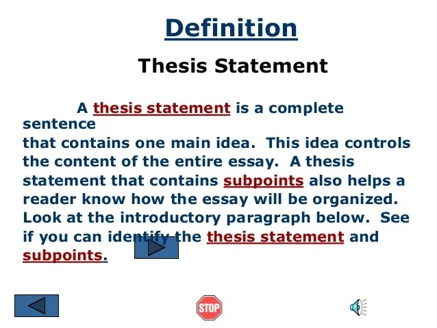 how to write definition essay
