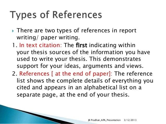 Thesis dissertation citation apa