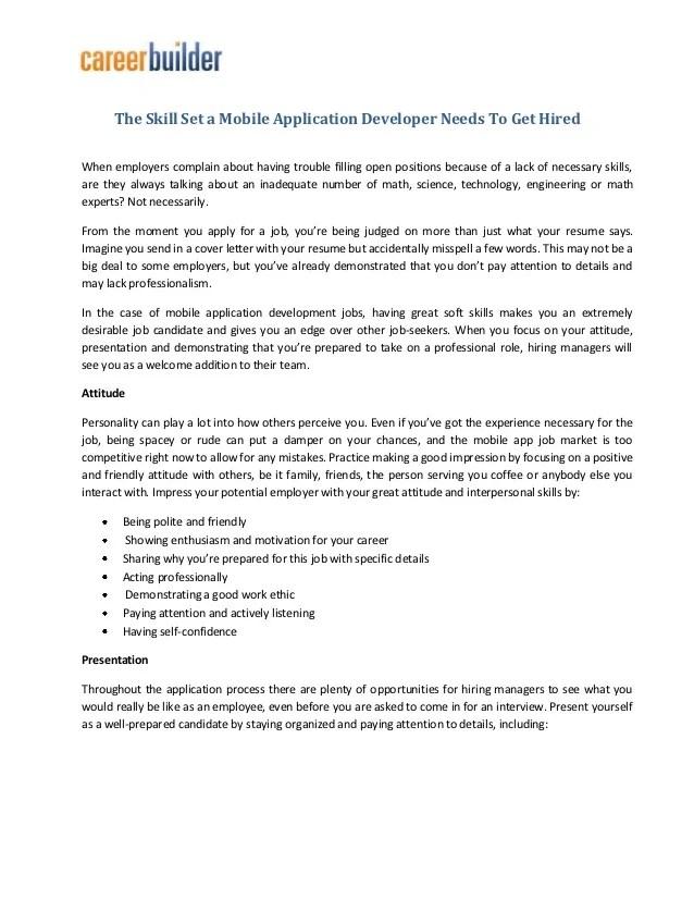 mobile developer cover letter