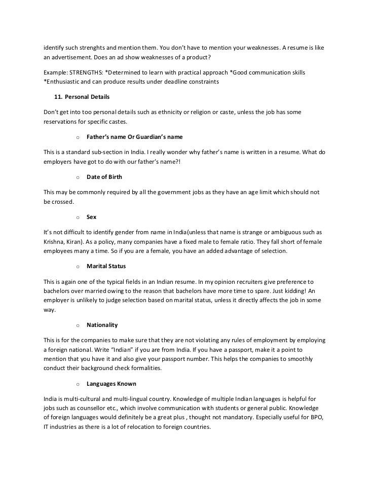 Strengths For Resume Cover Letter